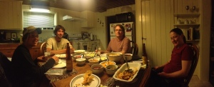 Dinner with Not a Chance, Sheriff Woody, Tangent, and Holstein