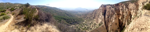 Trail looking down at Cajon Pass.