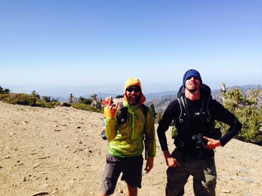 Top of Baden-Powell. LA is down below us.
