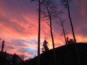 A beautiful sunset over Humboldt Peak.