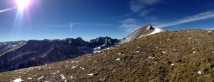 Finally, views of the surrounding mountains, and Humboldt Peak finally in our sights!