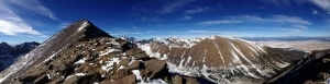 Panoramic view of Humboldt peak and the mountains to the North