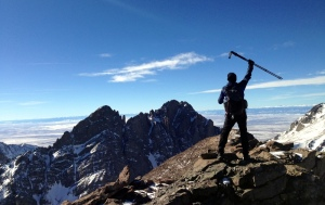 So happy to be here, on the summit of Humboldt Peak looking East towards the mighty Crestone's