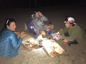 Hiker Trash Pizza Party.  This 'urban' hiking thing is starting to seem like a great idea.