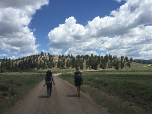 Elinor and Josh head through the Cochetopa Hills
