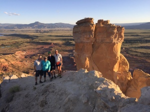 Teresa Martinez, Queen of the CDT, met up with us the night we were at Ghost Ranch, and the four of us (Myself, Teresa, Ducky, and Badger) all made the trek to Chimney Rock.  It was a beautiful night, with great people!