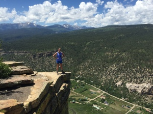 Grace on Animas Mountain.  Durango below.