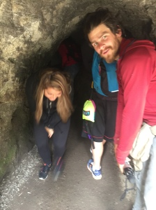 Being a creep in the tunnel.  We don't look, or smell, like normal tourists