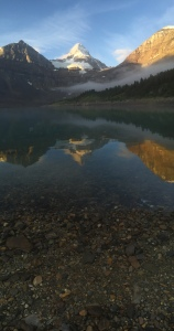 Reflections of Assiniboine in Lake Magog