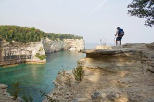 On a hike at Pictured Rocks National Lakeshore back in 2010. Lake Superior - Go there!